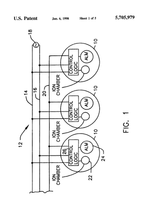 Patent US5705979  Smoke detectoralarm panel interface