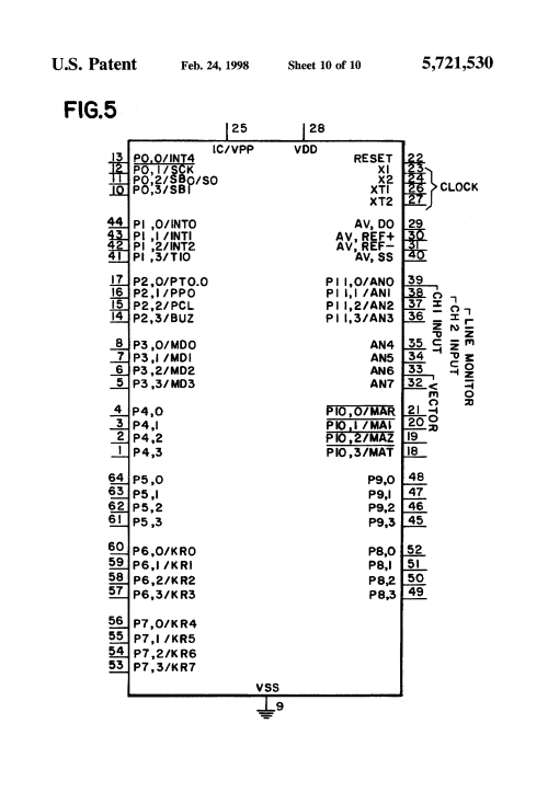 small resolution of  us5721530 10 patent us5721530 stand alone mode for alarm type module google burglar alarm wiring diagram adp