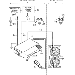 Electric Trailer Brake Wiring Diagram 97 Wrangler Radio Patent Us5785393 Electronic Controller