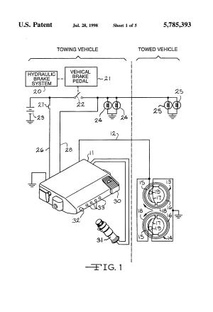 Patent US5785393  Electronic trailer brake controller