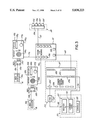 Patent US5838223  Patientnurse call system  Google Patents
