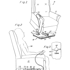 Swivel Chair Inventor Set Of Four Dining Chairs Patent Us5895093 Recliner Lift With Base