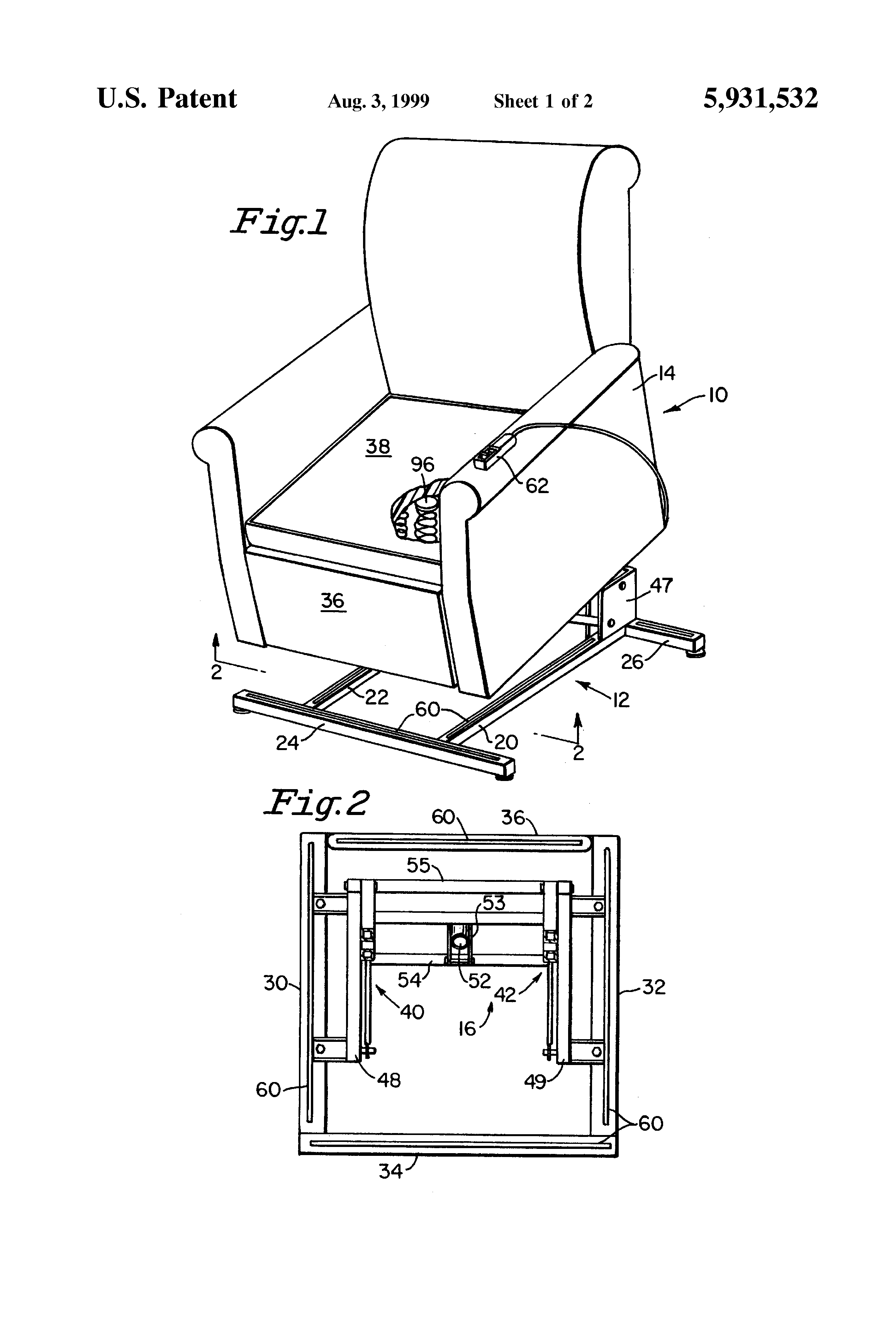 [DIAGRAM] Patent Us8403409 Lift Chair And Recliner Wiring