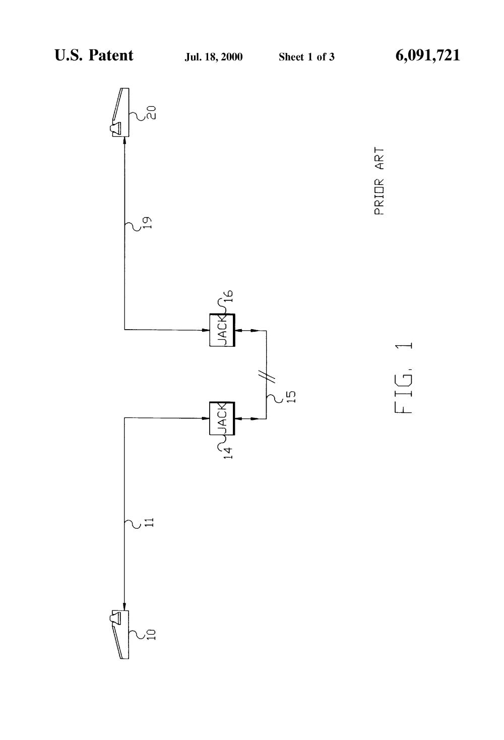 medium resolution of patent us6091721 apparatus for telephone communication over plural over a residential telephone wiring network google patents