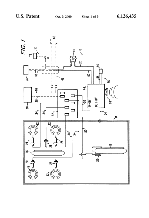 Patent US6126435  Electronic ignition system for a gas