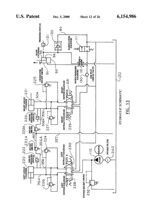small resolution of us6154986 12 patent us6154986 articulated snowplow system google patents sno way wiring diagram at