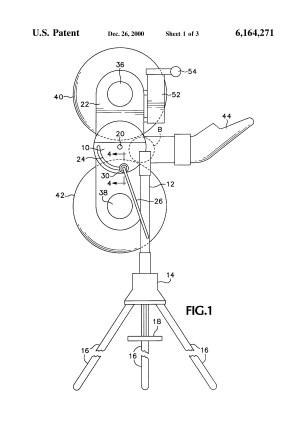 Patent US6164271  Ball throwing machine and electrical