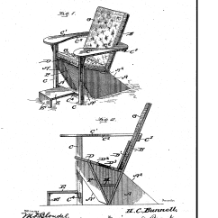 Chair Design Patent Kitchen Barstools Chairs The Storied History Of Adirondack Bunnell S Patented Westport