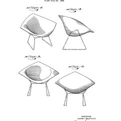 Chair Design Patent Swivel Leons Usd170790 Bertoia Google Patents