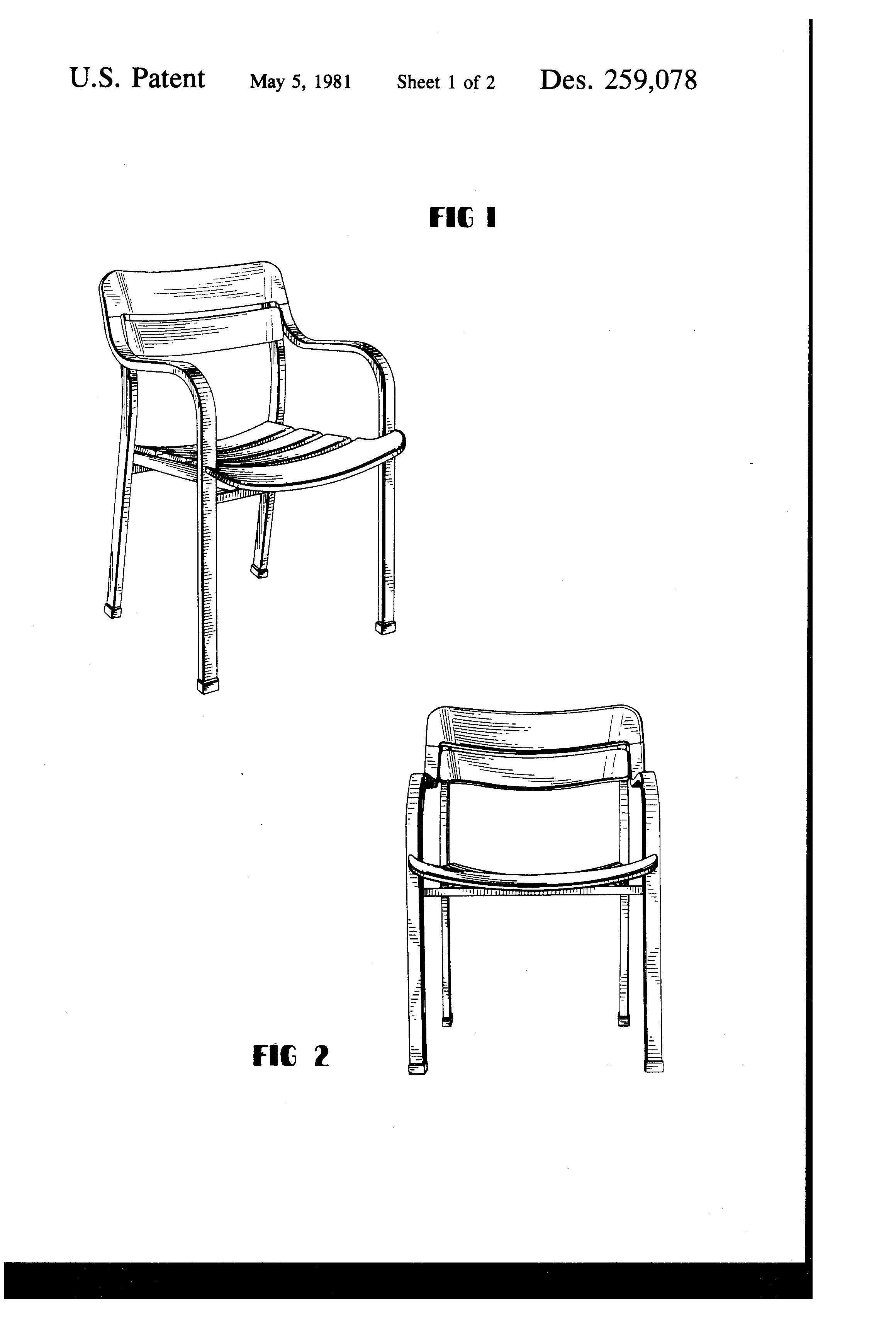 chair design patent metal with wood seat usd259078 lawn google patents
