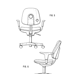 Chair Design Patent Rocking Springs Uk Usd264643 Office Google Patents