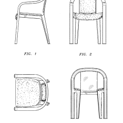 Chair Design Patent White Resin Folding Usd376702 Stack Google Patents