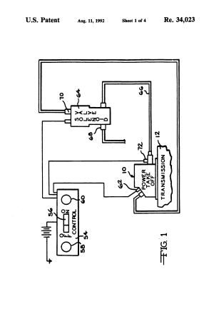 Patent USRE34023  Power takeoff speed control assembly  Google Patents