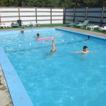 Pool in the Catskills - note the high walls around it for modesty.
