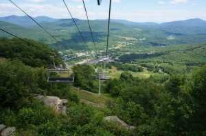 Going up the Chairlift at Hunter