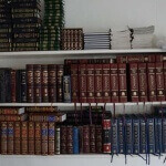 Seforim (books) in the shul (synagogue) in Puerto Plata.