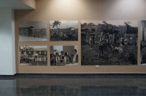 Peurto Plata airport departure area - Jewish settlement pictures in Sosua.