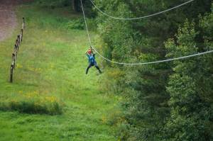 Ziplining at Hunter Mountain