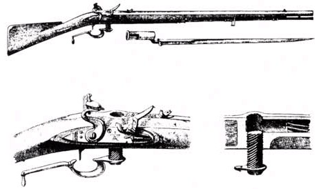 Working drawings of the Ferguson Rifle