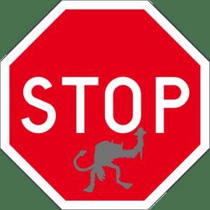 stop trolls sign