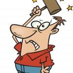 Cartoon - self-inflicted pain