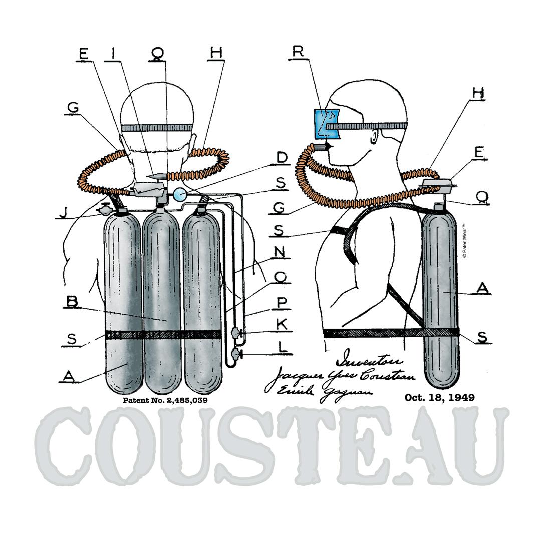 Cousteau Aqualung T Shirt Patentwear