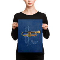 Trumpet Solo Patent Wall Art Canvas  PatentWear