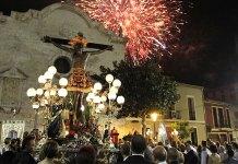 El Cristo de la Fe a su llegada a la Iglesia de San Pedro tras la procesión
