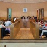 Instante del pleno donde se ha aprobado la nueva estructura y organización del pleno