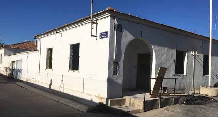 Imagen de una de las viviendas tapiadas de la antigua Colonia Militar