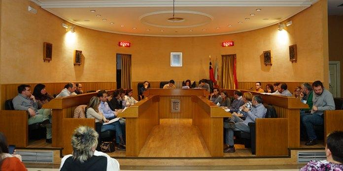 Instante del pleno de enero en el que se aprobó la medida