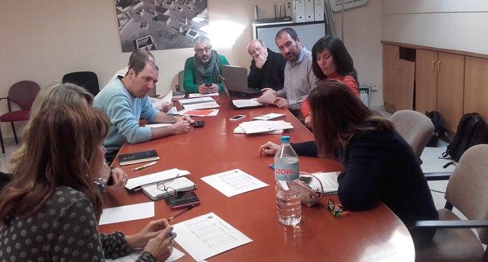 Instante de la reunión mantenida para consensuar unos presupuestos