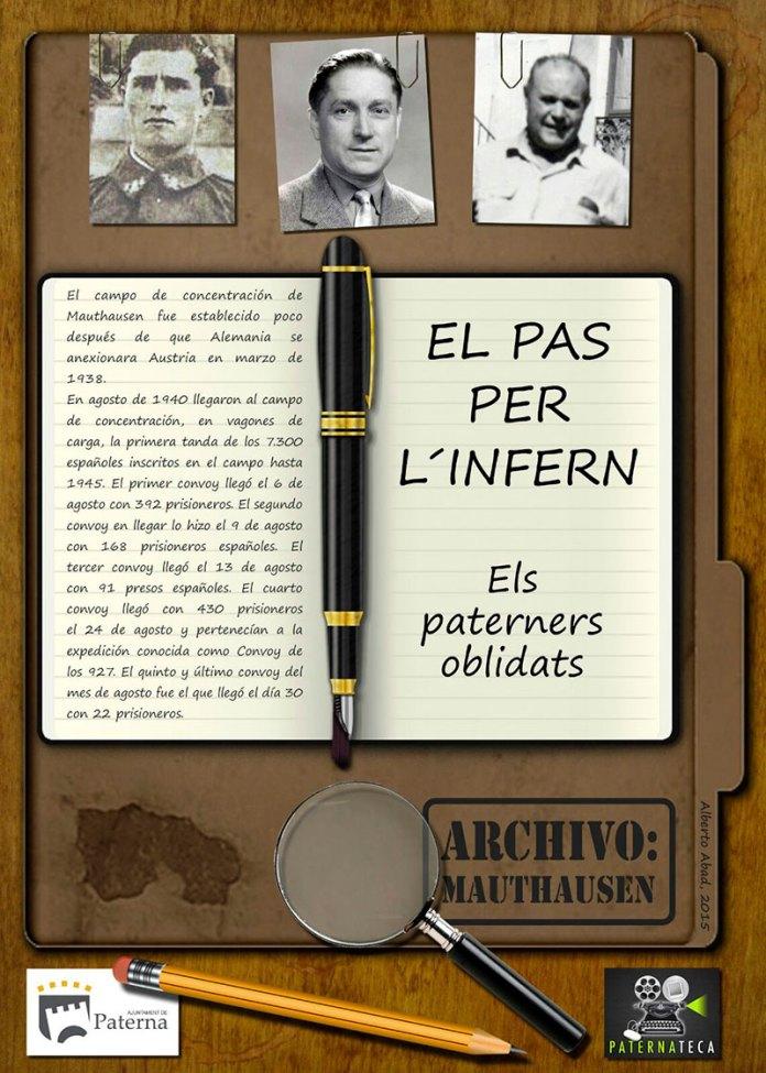 Cartel del documental que homenajea homenajea a los tres paterneros prisioneros en Mauthausen