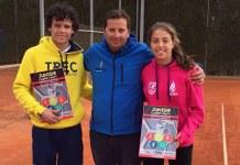 Lucía Marzal Y Enrique Paya, del Club de Tenis Peñacañada