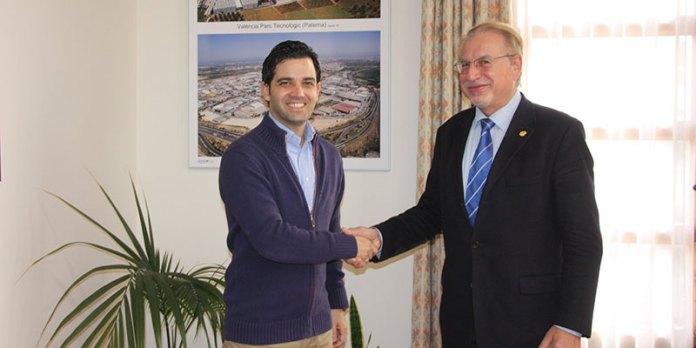 Sagredo junto al Decano del Colegio Oficial del Colegio de Ingenieros Industriales de la Comunitat Valenciana, José Miguel Muñoz Veiga
