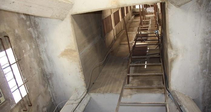 Interior de la torre de El Calvario