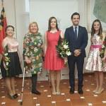 Raquel Cantarero y su Corte de Honor tras la elección
