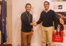 El alcalde, Juan Antonio Sagredo , junto a Nacho Sequeira, director de la Fundación Exit