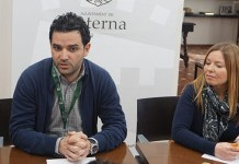 Sagredo y Pérez durante el encuentro con la prensa