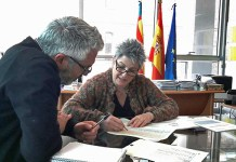 Juanma Ramón y Mercé Martínez durante la reunión