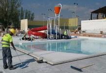 Estado actual de las obras de la piscina de verano de Paterna
