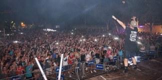 Instante de un concierto de Space Elephants en Paterna