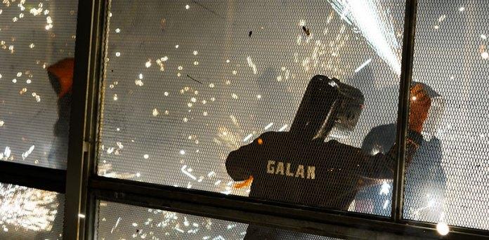 Un tirador durante la Cordà conmemorativa del 9 de octubre