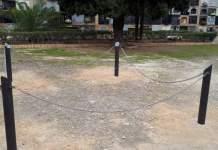 Imagen de la fosa delimitada en el cementerio de Paterna
