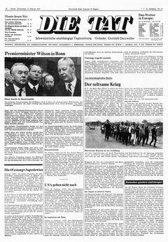 Die Tat, nº 37, 13/02/1969, p. 1