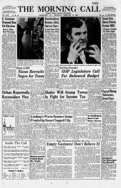 The Morning Call, nº 25537, 13/02/1969, p. 1