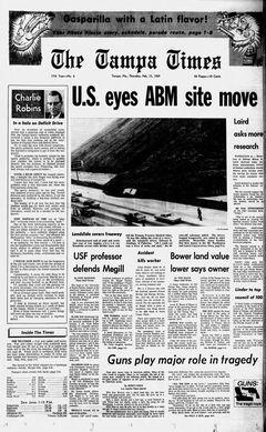 The Tampa Times, nº 6, 13/02/1969, p. 1