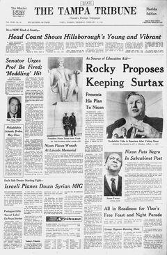 The Tampa Tribune, nº 44, 13/02/1969, p. 1