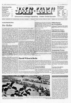 Die Tat, nº 39, 15/02/1969, p. 1