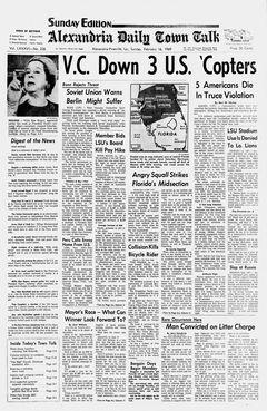 Alexandria Daily Town Talk, vol. LXXXVI, nº 236, 16/02/1969, p. A-1
